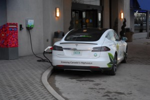 Sun Country's Tesla at the Hilton